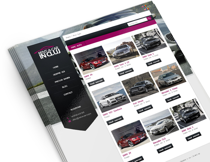 Website Rent a car